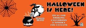 Penguin Halloween Banner